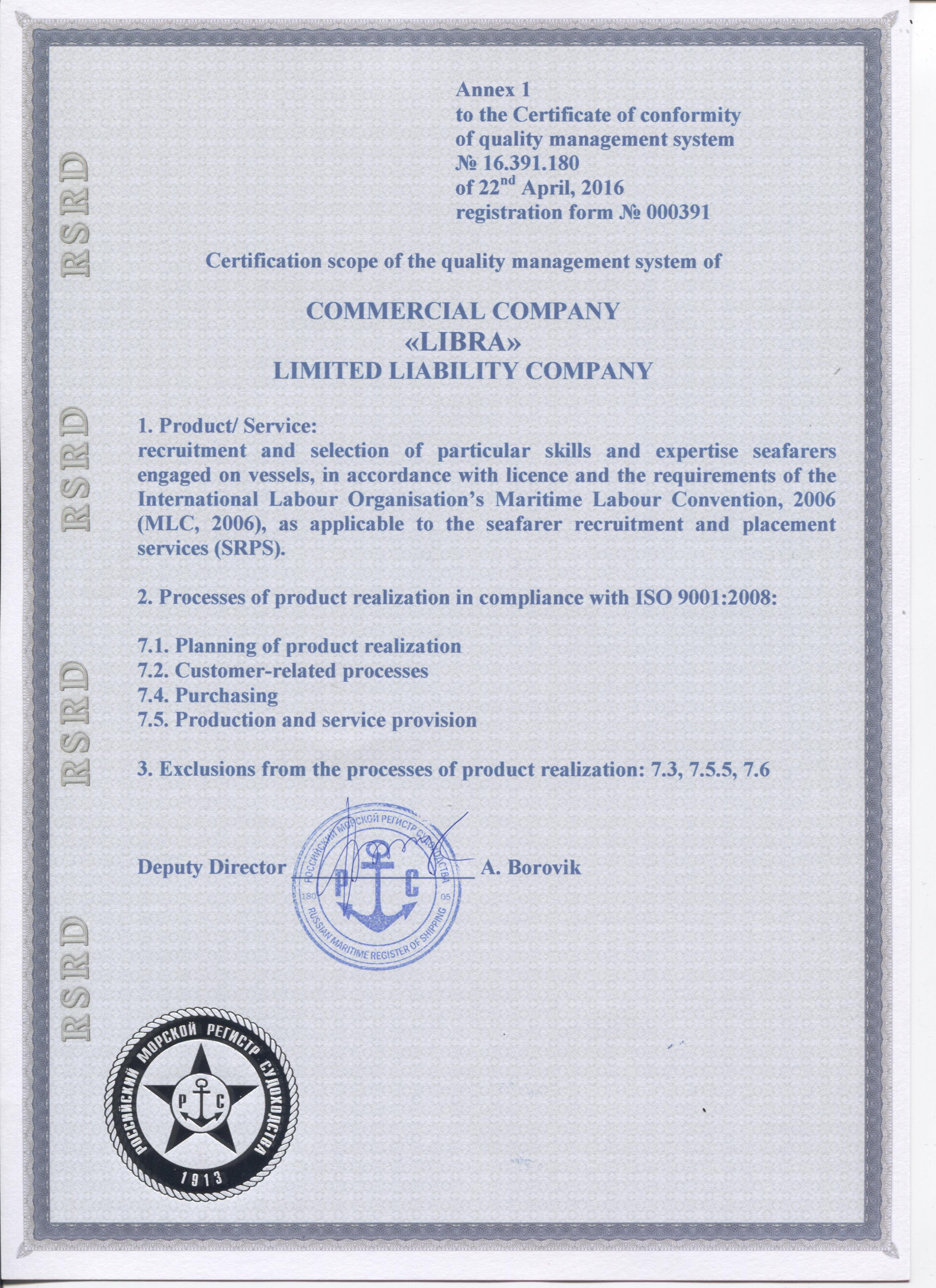 ISO 9001 2008 lic add english